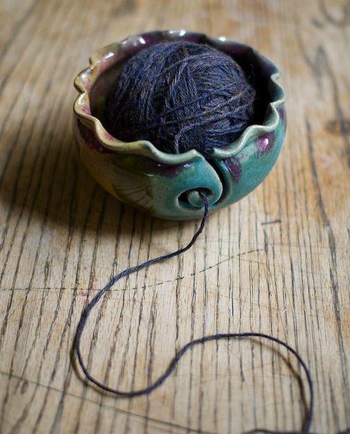 Beautiful knitting bowl.