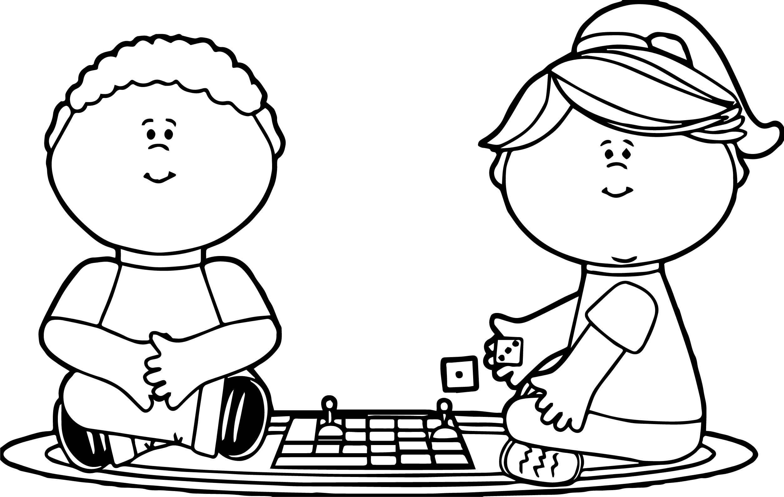Cool Waiting Boy For Board Game Coloring Page Coloring Games For Kids Coloring Pages For Kids Coloring Pages
