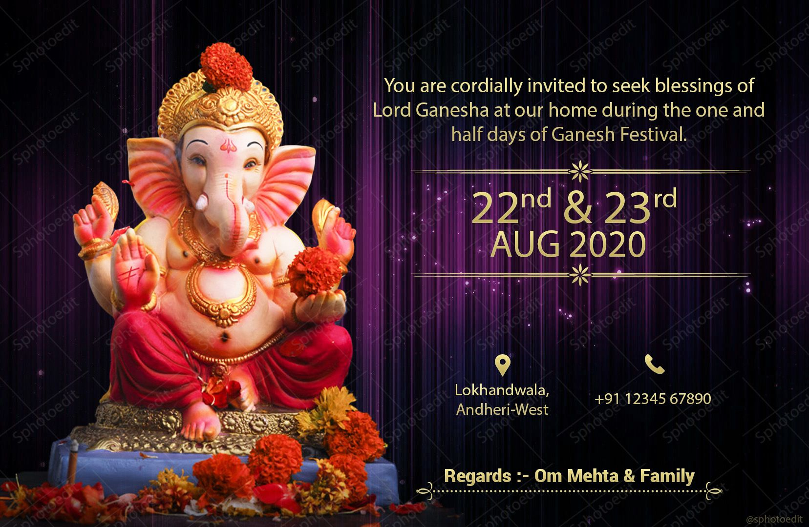 Rs.149 only for Ganesh Chaturthi invitation card 2020 ...