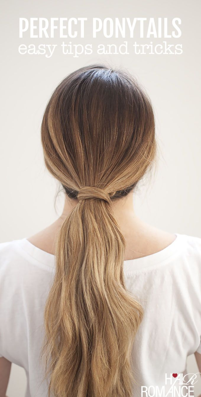 Perfect Ponytails How To Use A Hair Bungee And Hide Your Hair Elastic Hair Romance Perfect Ponytail Hair Romance Simple Ponytails