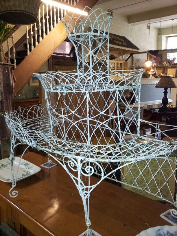 Victorian Garden Wire Plant Stand $800.00 Sorry Sold