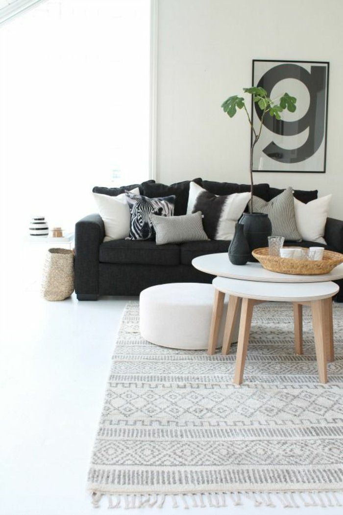 wohnzimmer skandinavischer teppich skandinavische möbel - möbel wohnzimmer modern