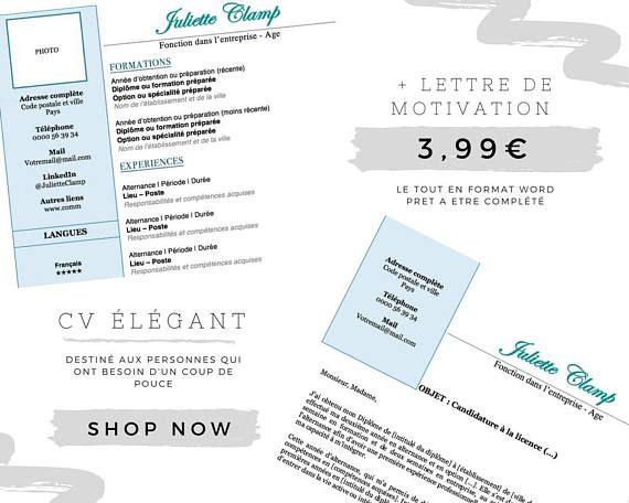 Modele De Cm Et Lm Simple Efficace Blue Sobre Cv Lettre De Motivation Motivation Lettre A