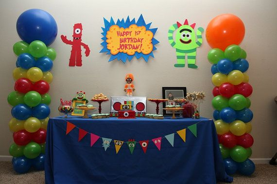 YO GABBA GABBA birthday party sign banner on Etsy, $39 95