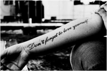 Top 10 inspirational tattoo designs tattoo tattoo designs and tatting love yourself tattoo solutioingenieria Images