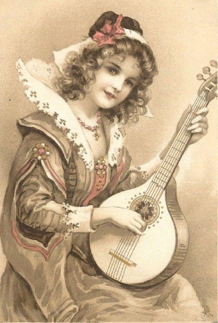 Ретро открытки музыка, соник