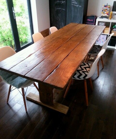8ft Dining Table Rustic Reclaimed Timber Farmhouse Style