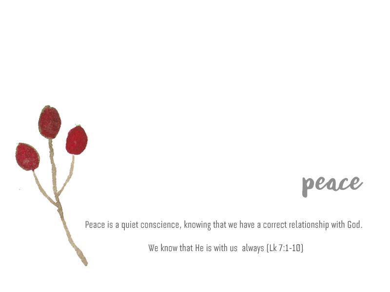 Peace, The Fruit of Holy Spirit