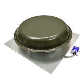 Master Flow 1 250 Cfm Bronze Galvanized Steel Electric Power Roof Vent Weathered Wood Galvanized Steel Roof