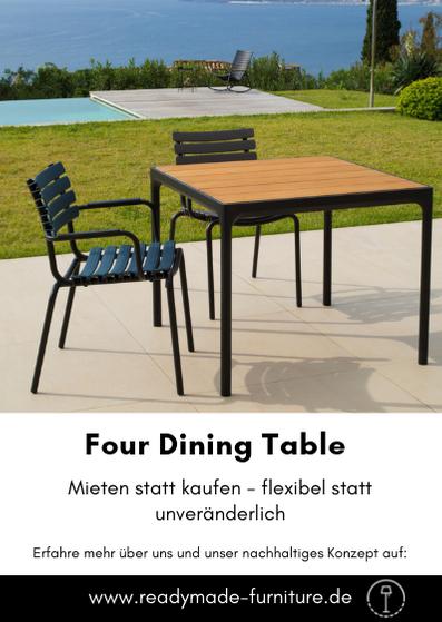 Houe Four Dining Table Klein Schwarz Readymade Hochwertige Mobel Gartentisch Outdoor Tisch