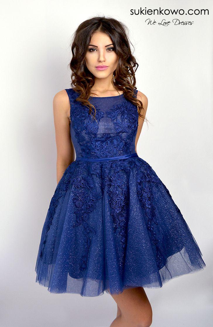 Sukienkowo Pl Zoe Rozkloszowana Sukienka Z Giupiura Granatowa Dresses Lace Dress Gowns Dresses