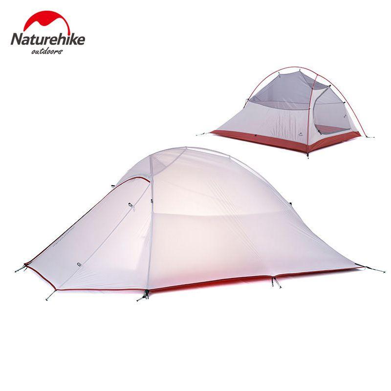 2016 Dhl شحن مجاني Naturehike 2 شخص خيمة خفيفة 20d السيليكون النسيج خيمة طبقة مزدوجة التخييم خيمة خيمة Tent Ultralight Tent Tent Camping