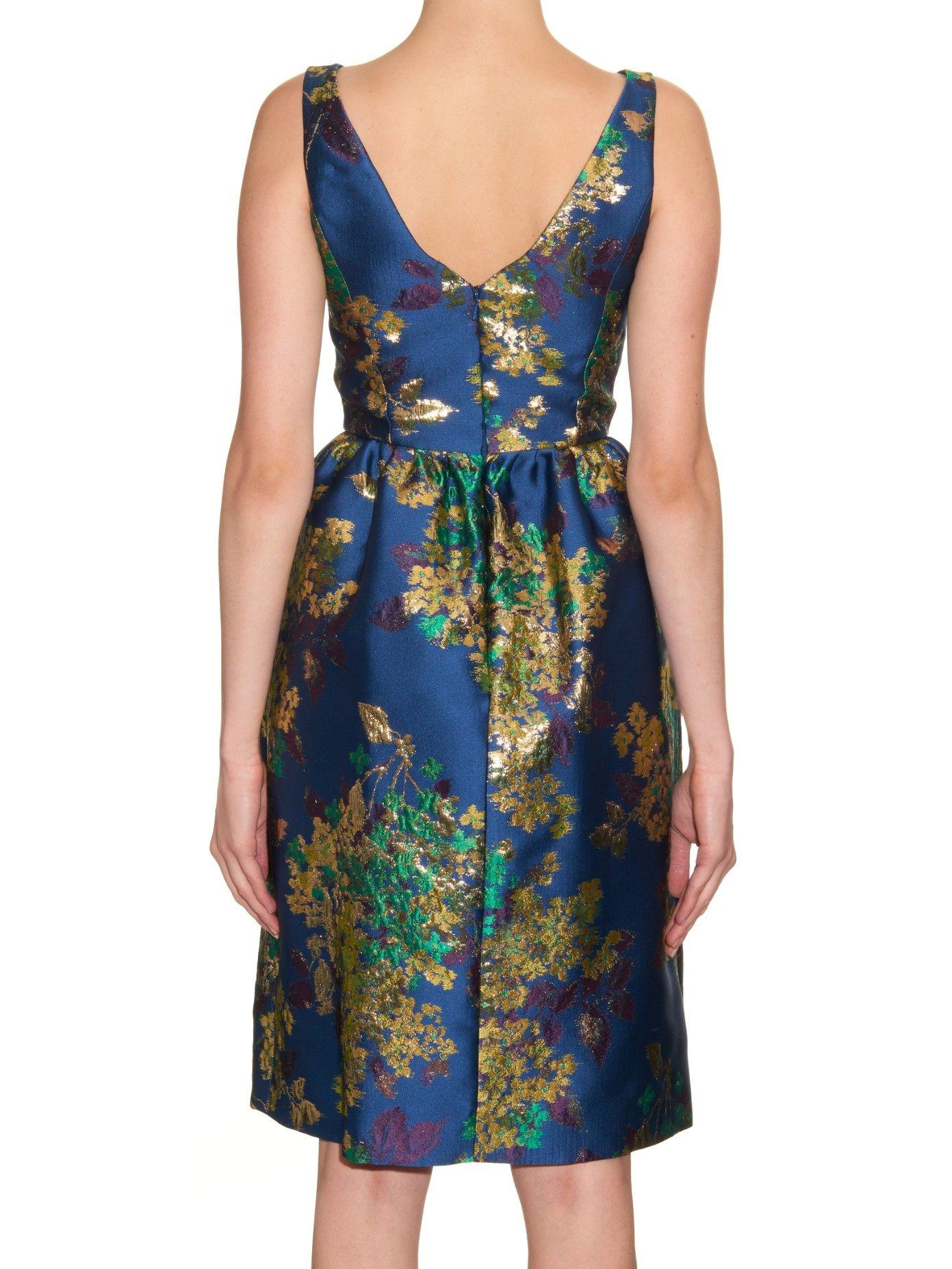 Floral jacquard dress Erdem 29iT5ir7