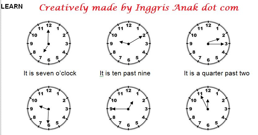 Lesson 1 Telling Time A Quarter Seperempat 15 Menit A Half Setengah 30 Menit Kalimat Yang Biasa Dig Lampu Lalu Lintas Teks Materi Bahasa