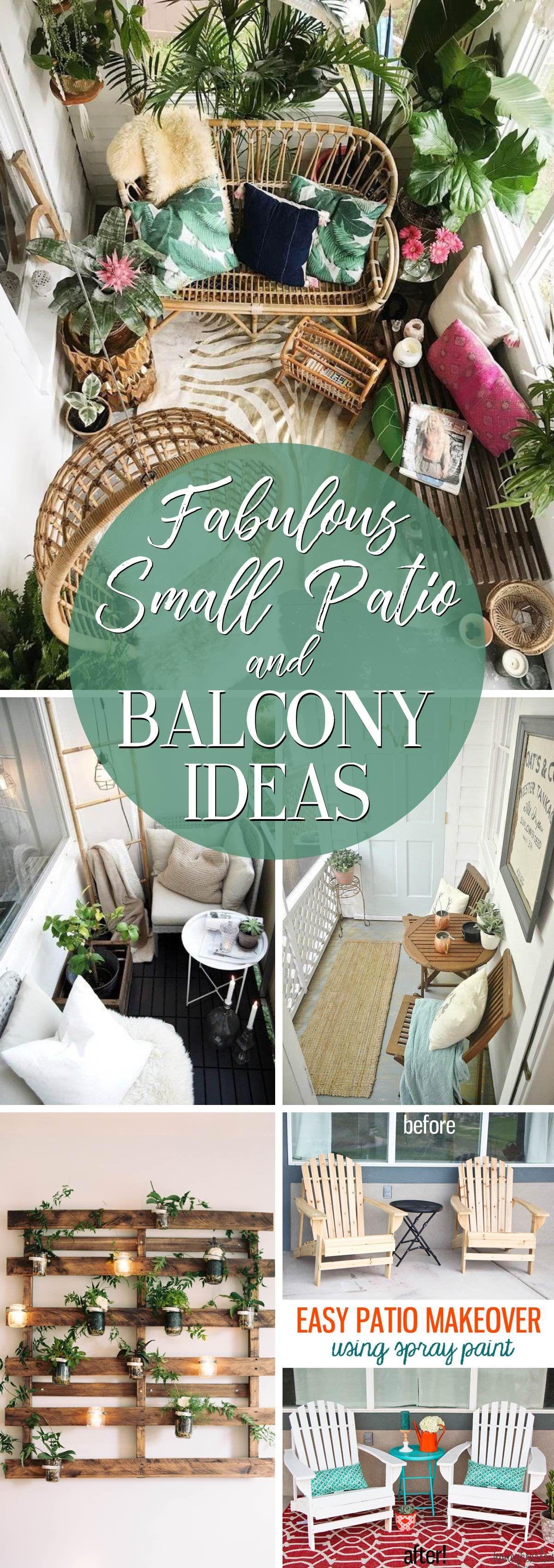 19 Fabulous Small Patio and Balcony Ideas #balconyideas