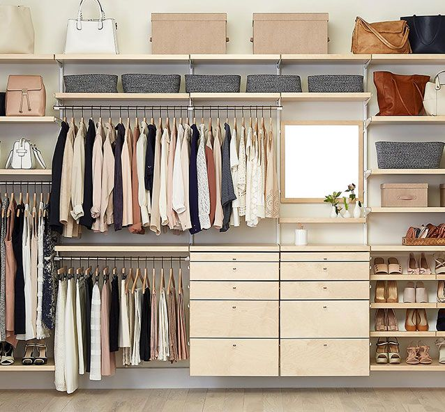 The Container Store Closet Systems The Container Store Elfa Adjustable Shelving Solutions  Po