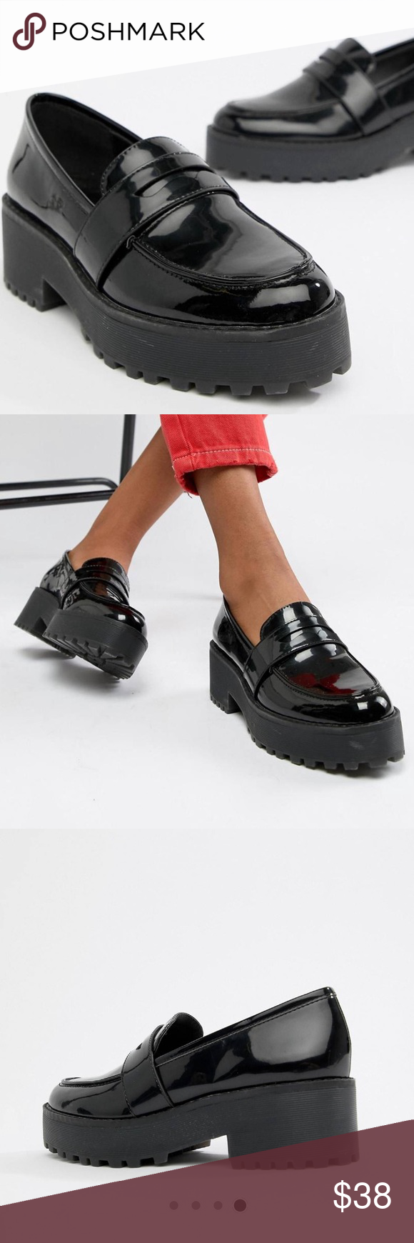 Monki Chunky Loafer worn once