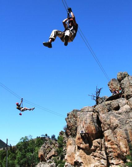 Gunnison Zipline Ziplining Colorado Vacation Colorado Travel