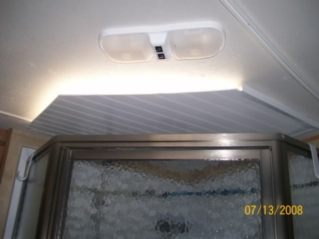 Homemade Light Blocker For A Shower Skylight Vent Skylight Covering Camper Lights Rv Lighting