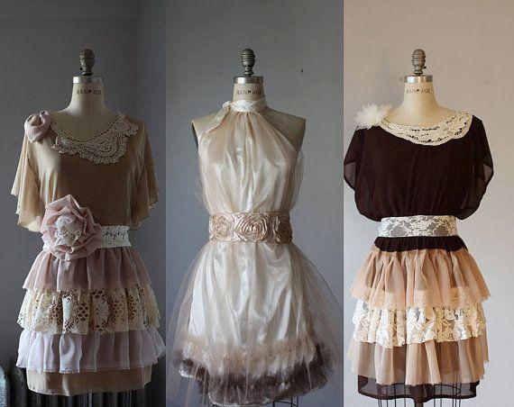 Upscale  dress DIY fashion bohemian vintage by AtelierSignature, $135.00
