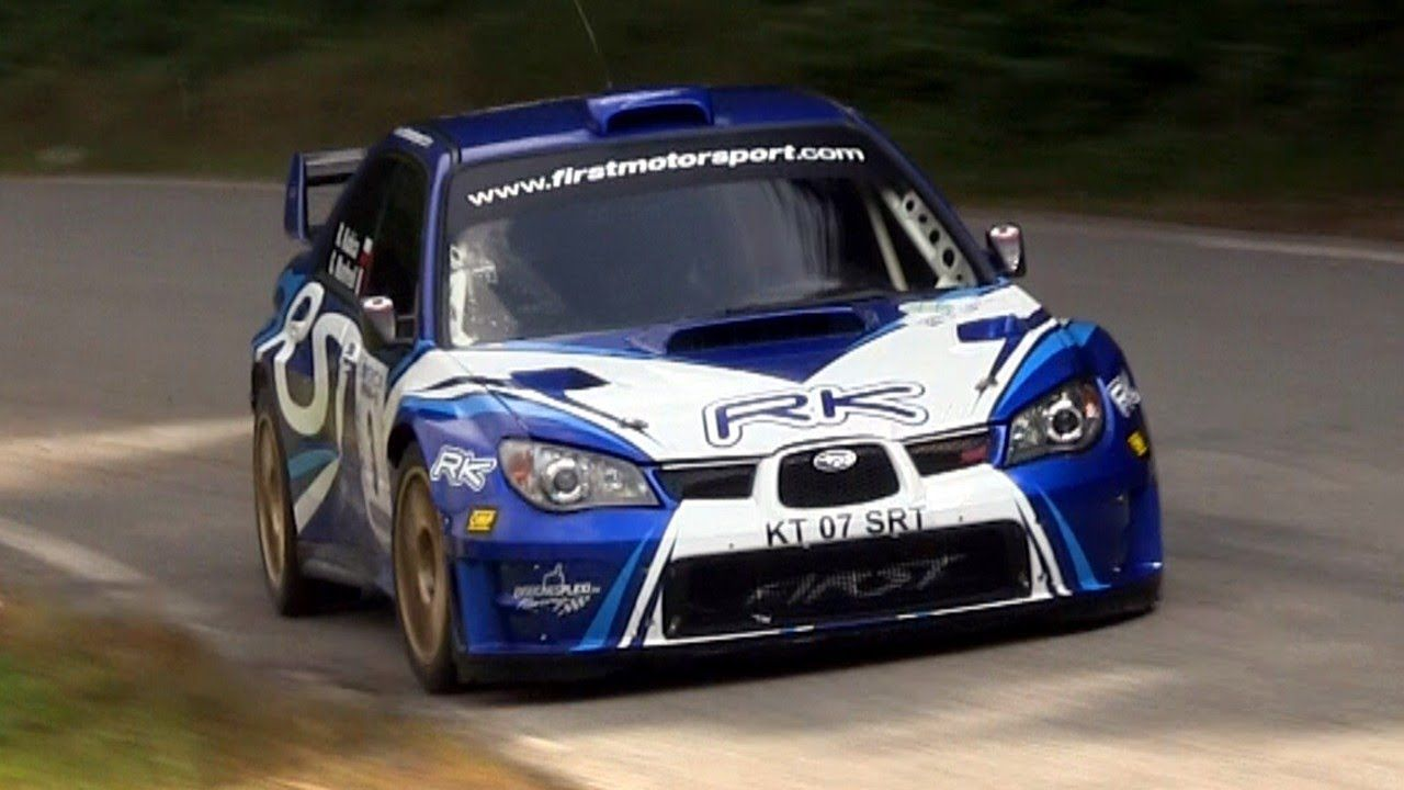 Subaru WRX STI rallying, the sound is wicked with the one too ...