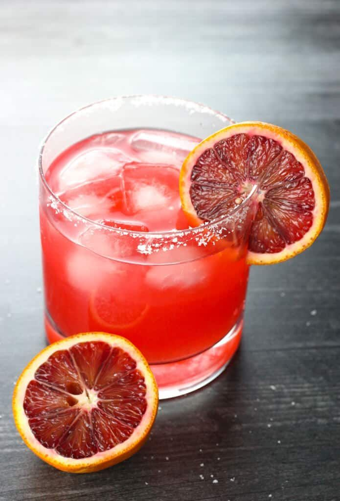 Blood Orange Margarita This delicious and seasonal Blood Orange Margarita is a spin on the classic margarita recipe with one exception. This drink is as tasty as it is vibrant.