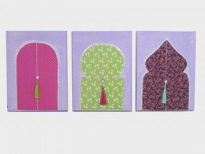 triptyque portes orientales d coration murale pour enfant diy. Black Bedroom Furniture Sets. Home Design Ideas