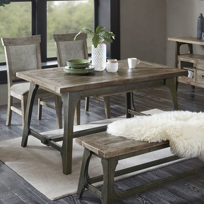 Gracie Oaks Towne Extendable Solid Wood Dining Table | Birch Lane