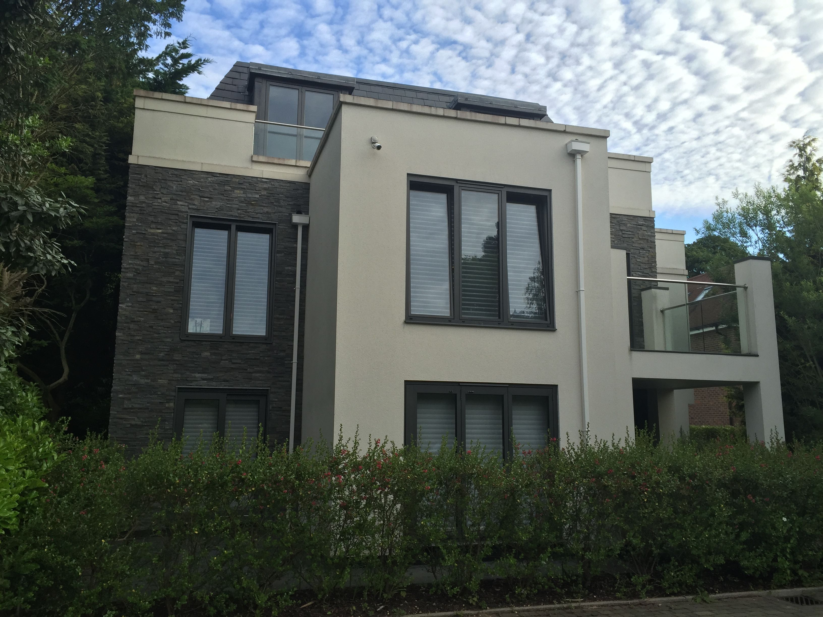 Rear elevation to Esher Heights
