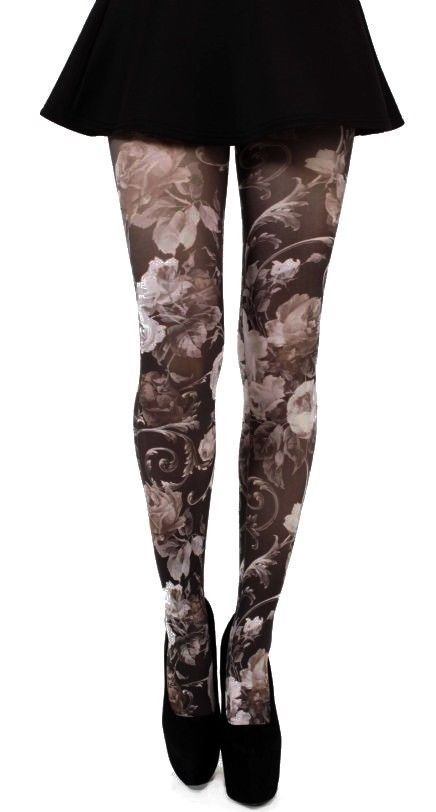 TWILIGHT PRINTED TIGHTS (BLACK/WHITE) pamela mann | eBay, Printing ...