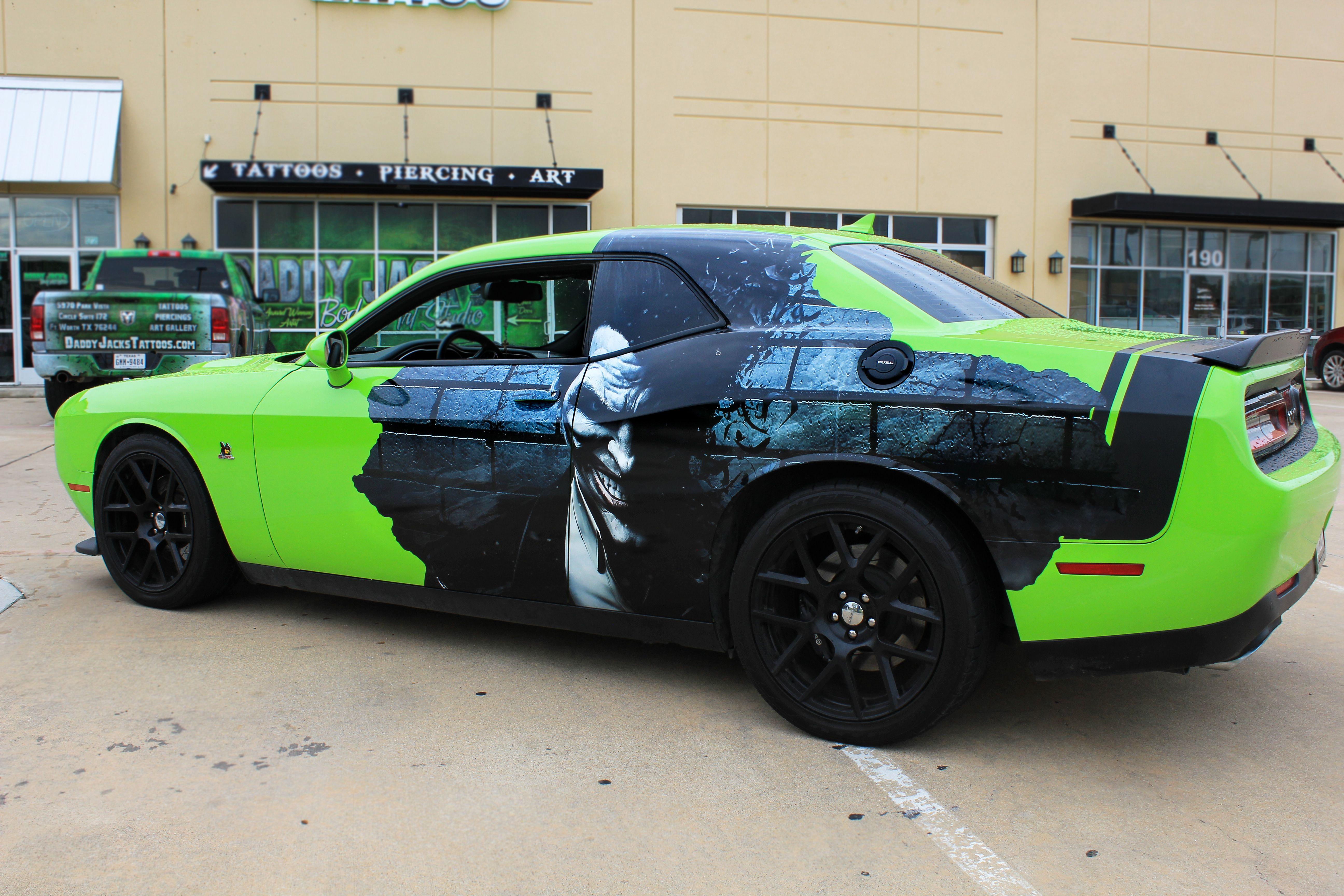 Joker Challenger Batman Car Wraps Custom Car Wrap Batman Car Car Wrap Design [ 3456 x 5184 Pixel ]