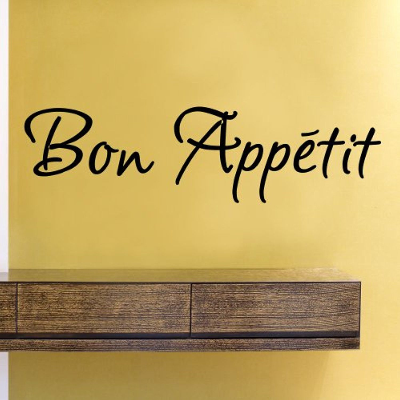Bon Appetit Vinyl Wall Decals Quotes Sayings Words Art Decor ...