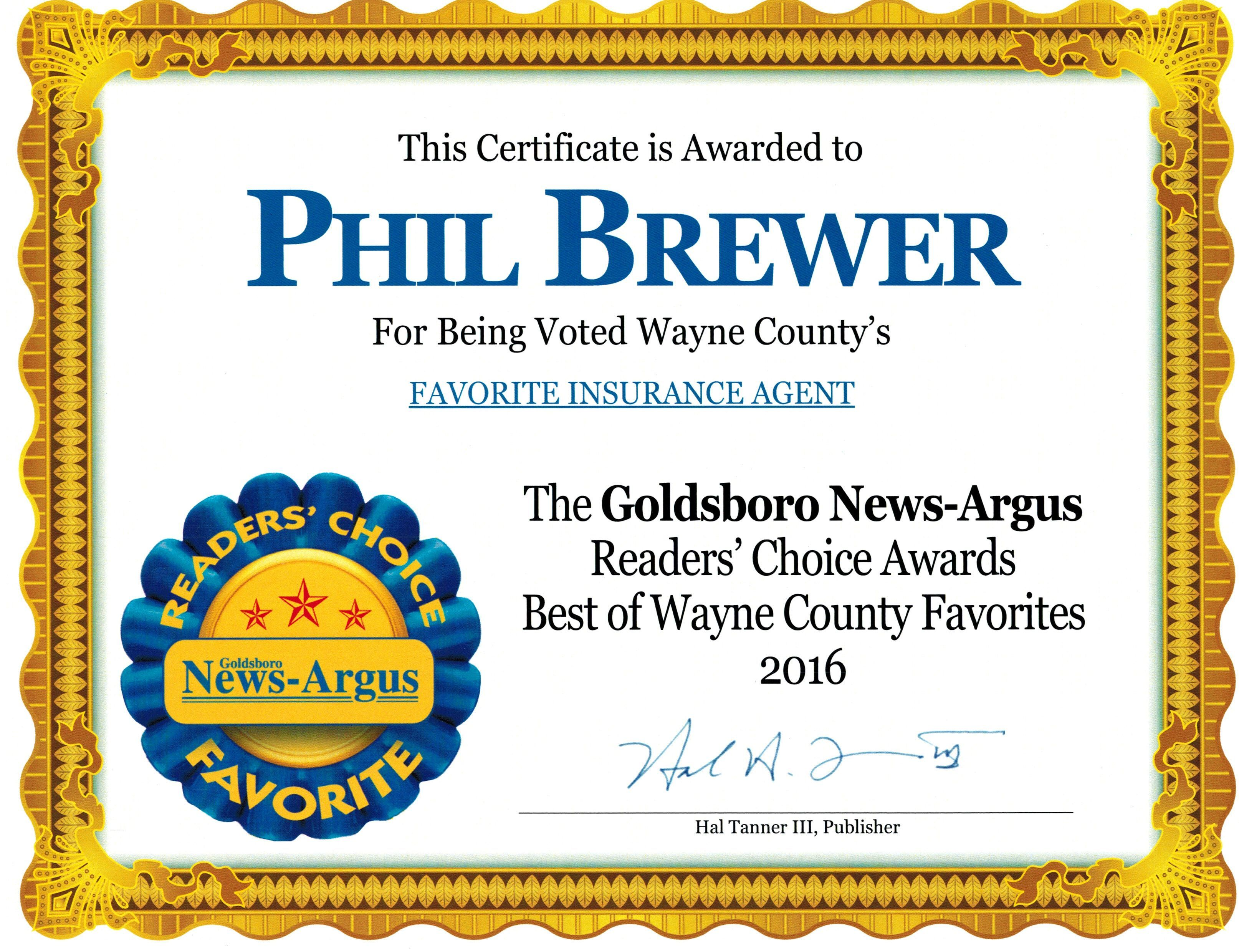The results are in for the 5th Annual Goldsboro News-Argus