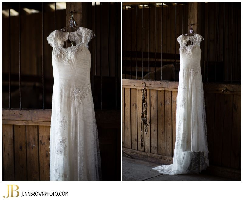 Kristen and Adam's Country Chic Wedding at The Reserve at Bluebird Hill  #Weddingdress #Horse #Stall #Rustic