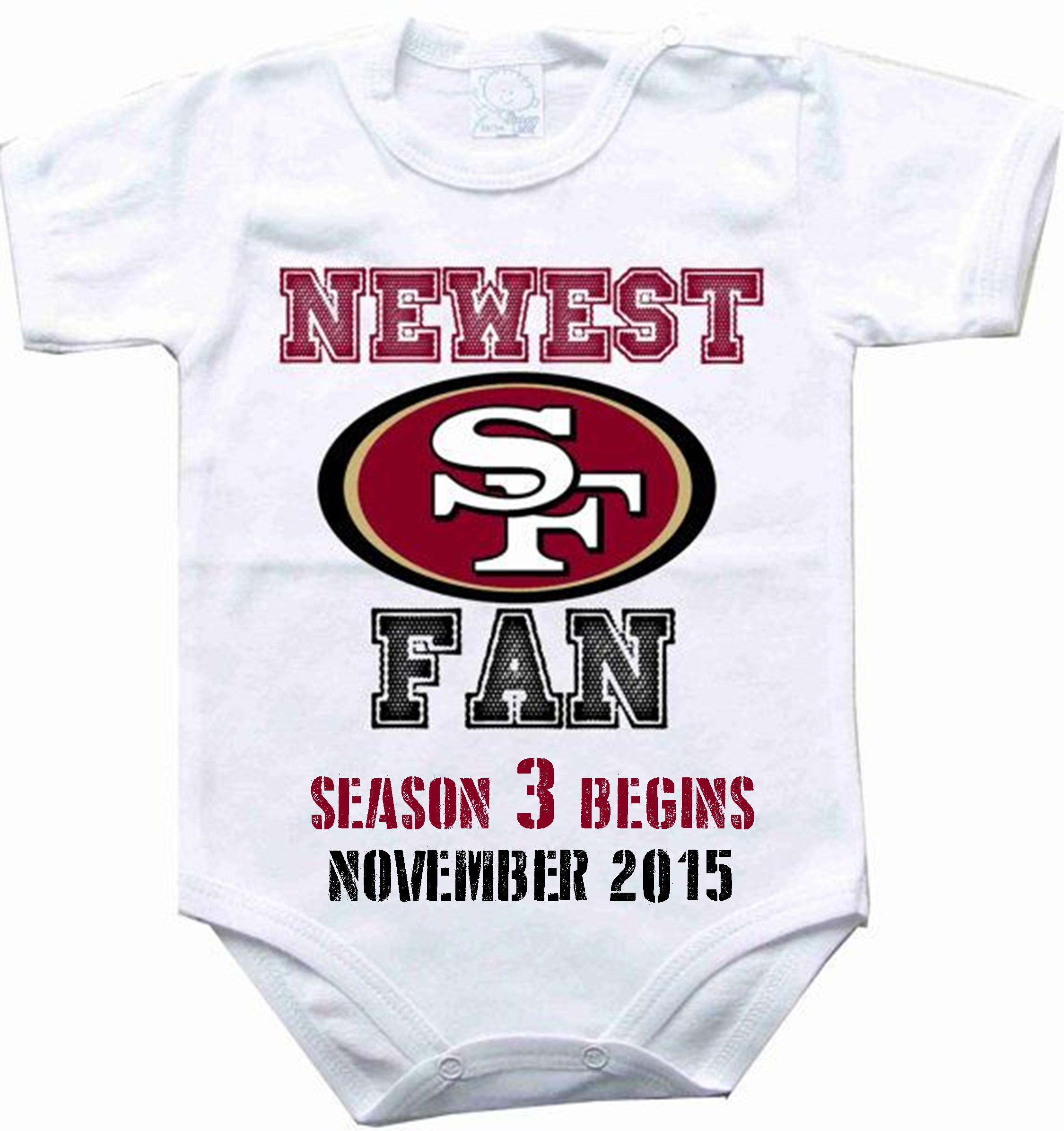 Baby 3 Pregnancy Announcement for 49ers baby