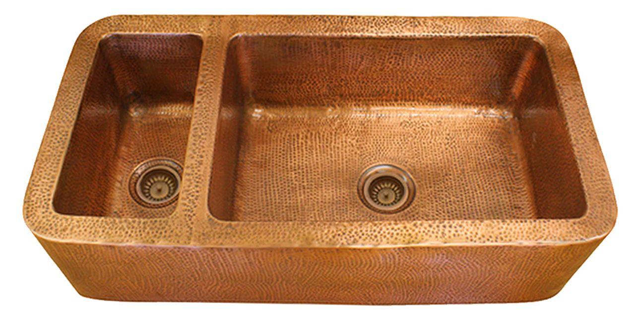 Eclectica Chateaux Copper Kitchen Sink