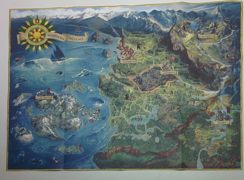 The Witcher 3 World Map blood and wine toussaint map witcher ...