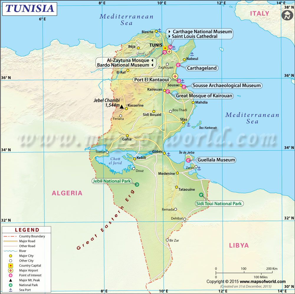 Map of tunisia everything maghrib pinterest africa continent map of tunisia gumiabroncs Image collections
