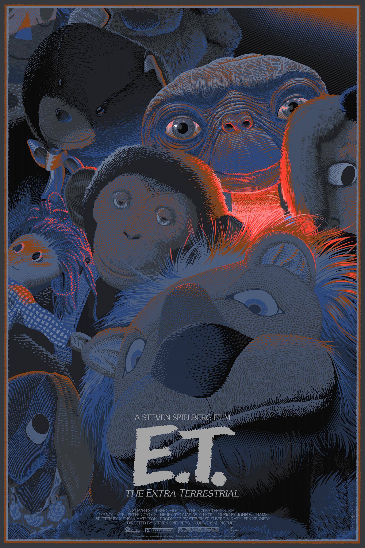 E.T THE EXTRA-TERRESTRIAL MOVIE POSTER FILM A4 A3 ART PRINT CINEMA