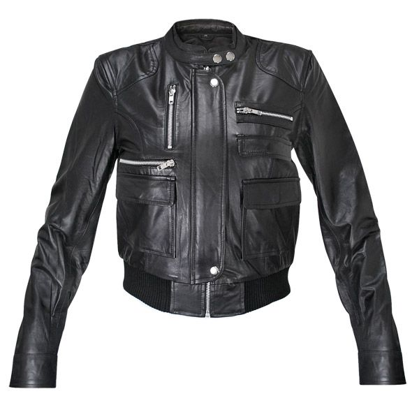 Women's real leather bomber jacket black – Modern fashion jacket ...