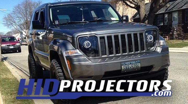 08 18 Jeep Liberty Kk Headlights With Monster Shrouds Jeep Liberty Jeep Liberty Lifted Jeep Liberty Sport