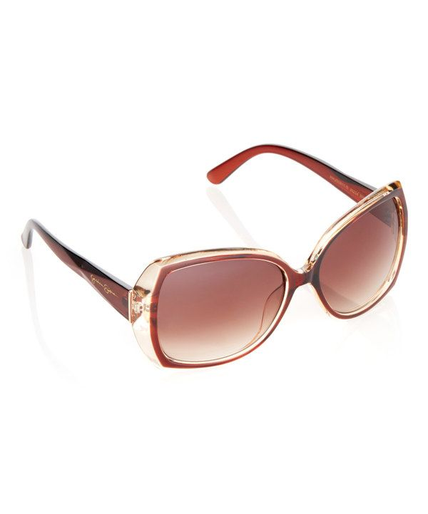 c1957afd36443 Look at this Jessica Simpson Collection Brown Oversize Square Sunglasses on   zulily today!