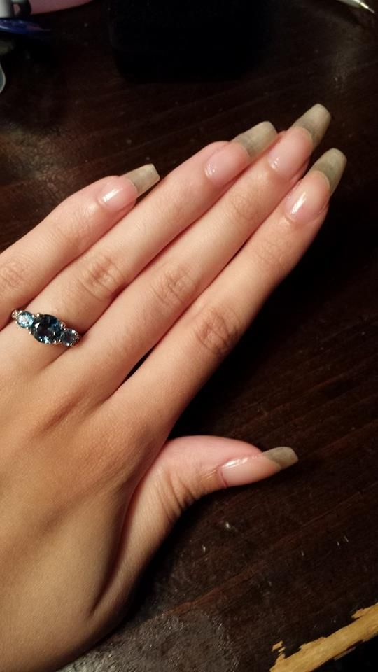 Clear long natural nails | Long nails | Pinterest | Long natural ...