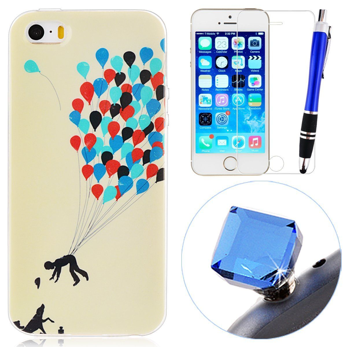 Grandever soft tpu silicone case for iphone 5 iphone 5s