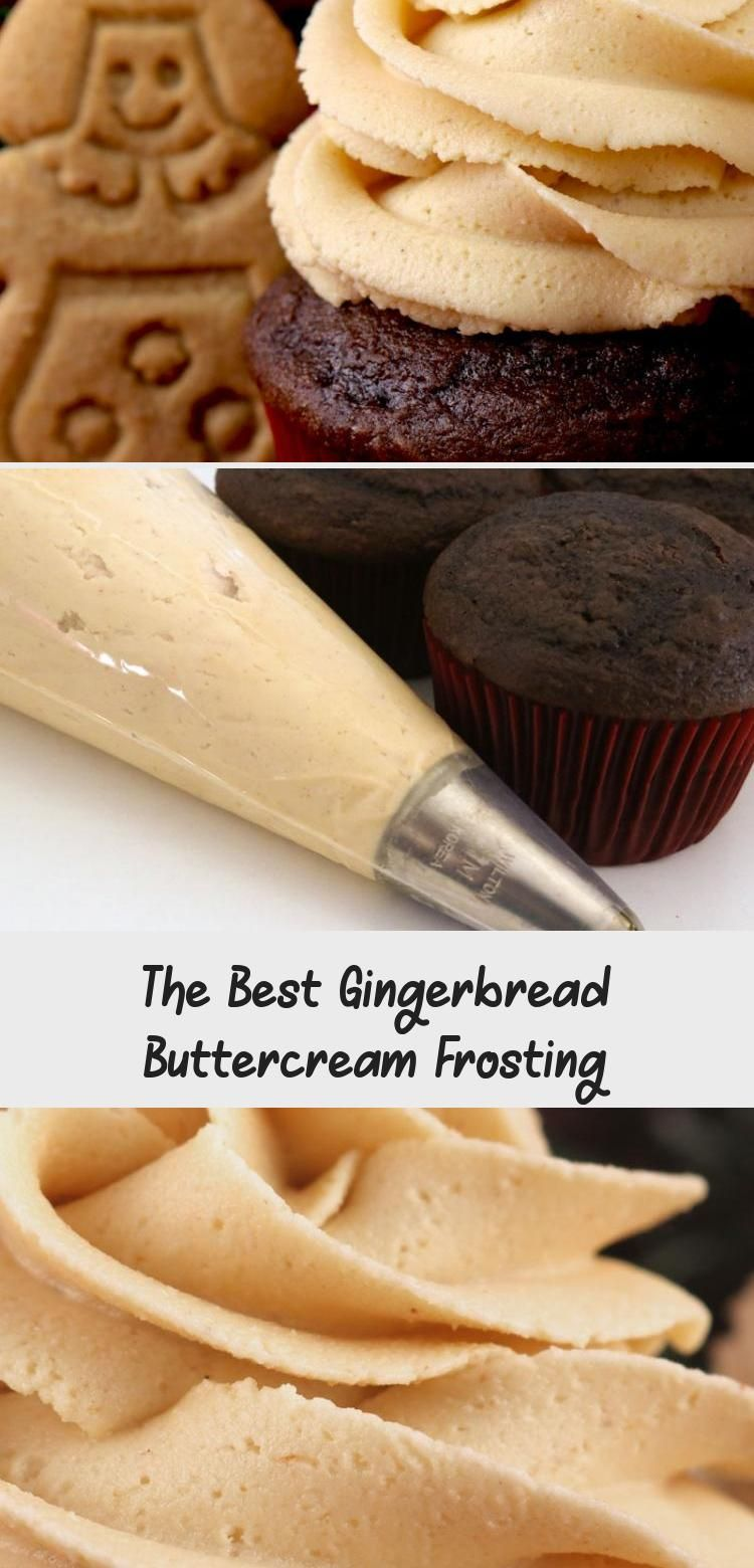 Photo of The Best Gingerbread Buttercream Frosting – a creamy frosting infused with iconi…
