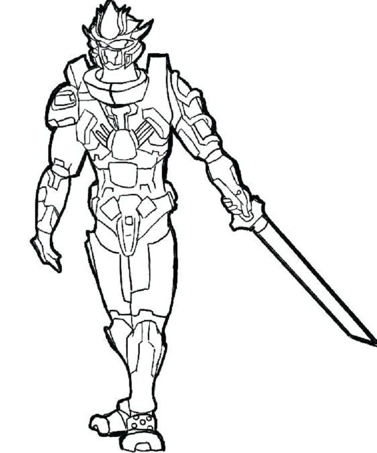 Robot Ninja Coloring Pages