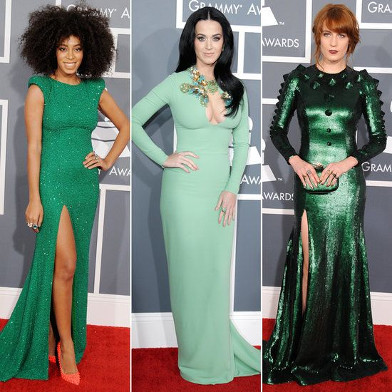 Grammys 2013 Red Carpet Green Dress Trend