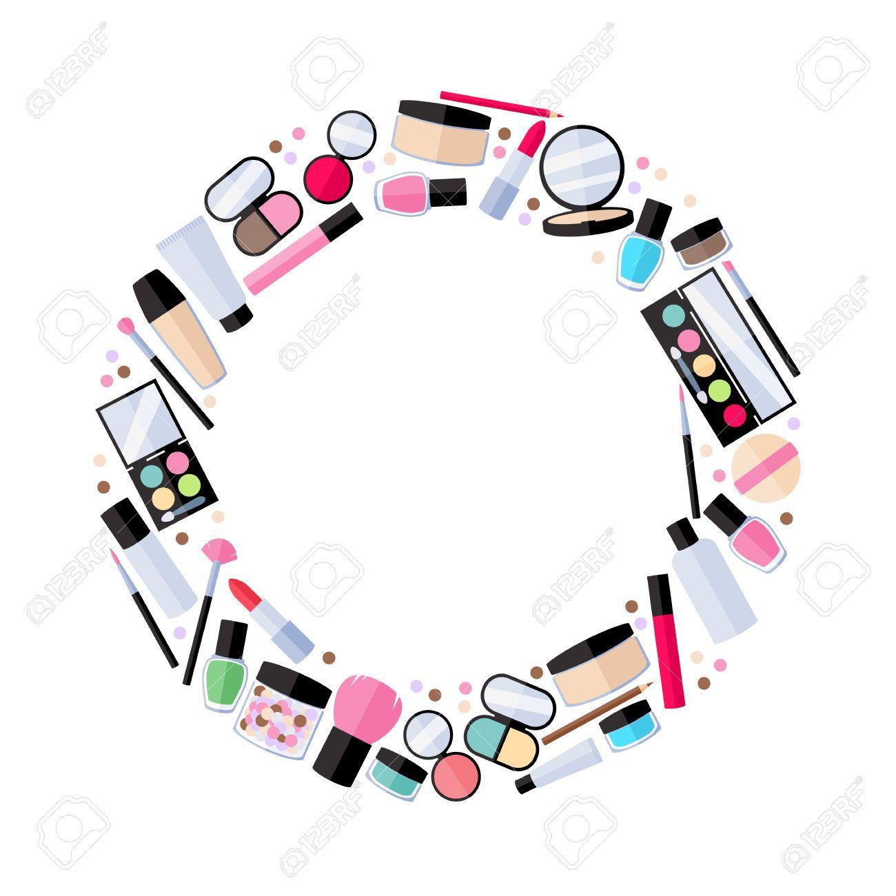 Makeup Clipart Frame 2 Com Imagens Loja De Maquiagem
