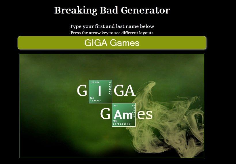 Breaking Bad Logo Generator Create Your Own Name Breaking Bad Bad Logos Worst Fonts