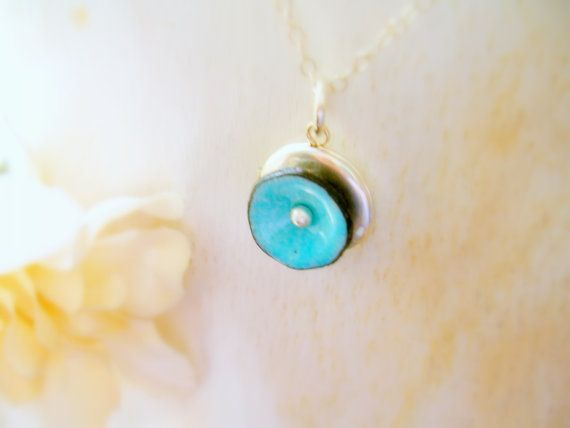 Custom Locket Necklace Enamel Poppy on Sterling Silver Locket Keepsakes Memorial Jewelry - made to order in Aqua or your favorite color